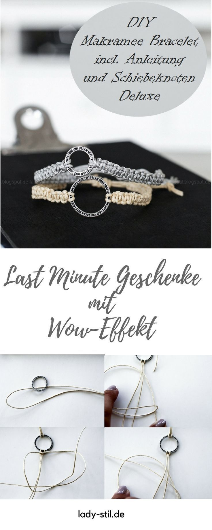 25 + › Weihnachtsgeschenk-Tipp für Männer und Frauen – Armbänder und Schlüsselanhänger aus Makramee – Armcandy