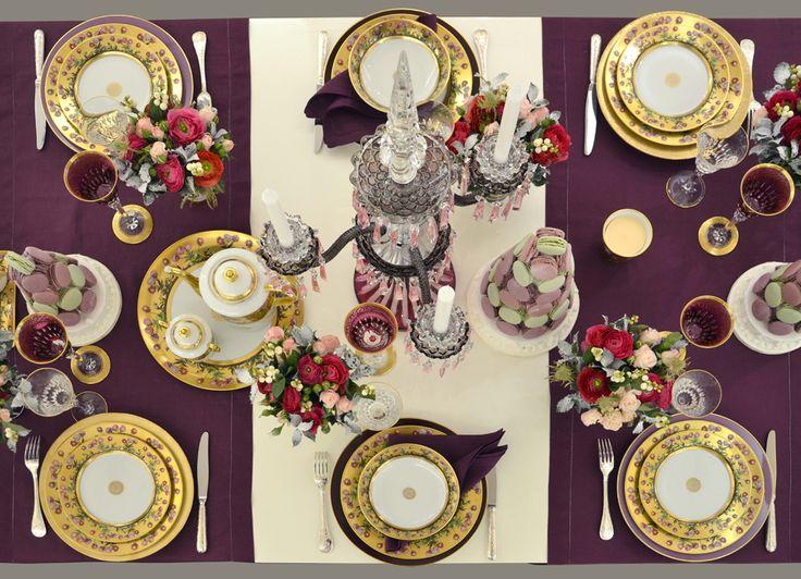 Bernardaud collection héloïse bernardaud porcelaine tablesetting tablescape table decorationstablestable