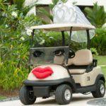 Bride and Groom Bridal Car or Golf Buggy