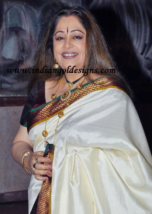 kirron kher in designer jewellery