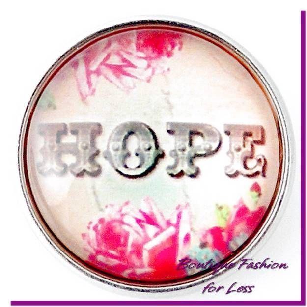 Snaps Snap Chunk Charm Glass HOPE Message Interchangeable #PrivateLabel #StyleSnapsChunkSnapPopDesignerInspi
