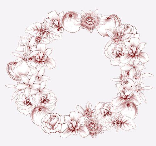illustration couronne de fleurs florence gendre. Black Bedroom Furniture Sets. Home Design Ideas