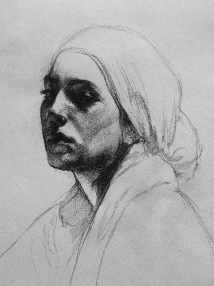 Self  portrait, by Hind Al-jermi.