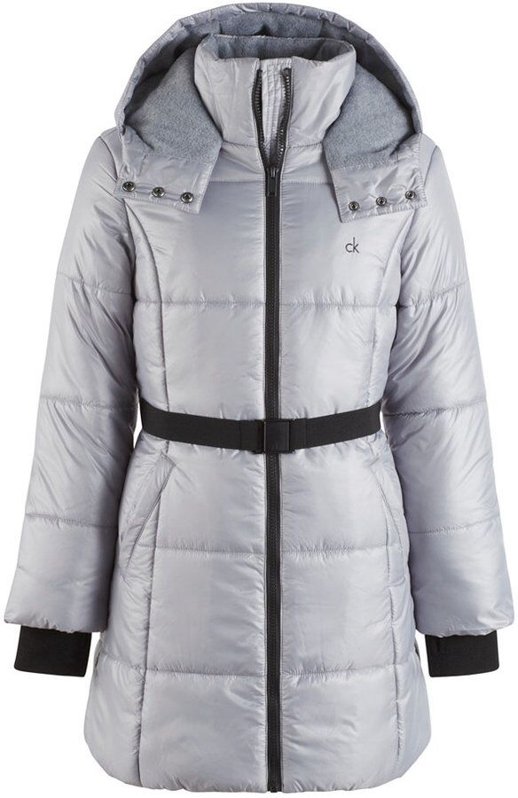 2aee59b66a75 Calvin Klein Vail Hooded Belted Puffer Coat