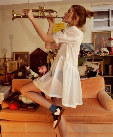 Rachel Antonoff White Tennessee Dress and Bass Shoes
