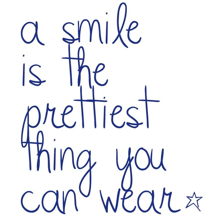 A smile is my favorite thing about a person it shows beauty and can completely change your image it's a wonderful thing ☺