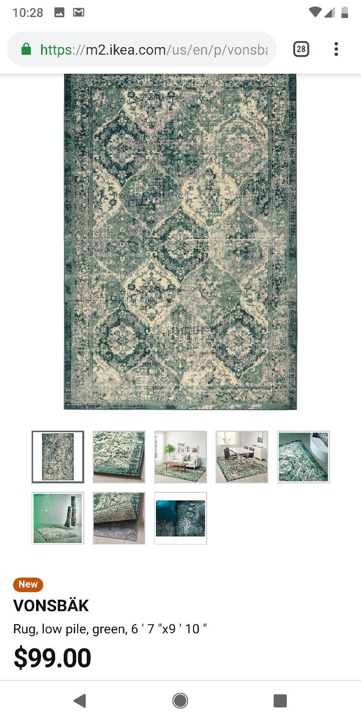 Vonsbak Rug Low Pile Green Length 9 10 Ikea In 2020 Rugs Traditional Furniture Office Colors