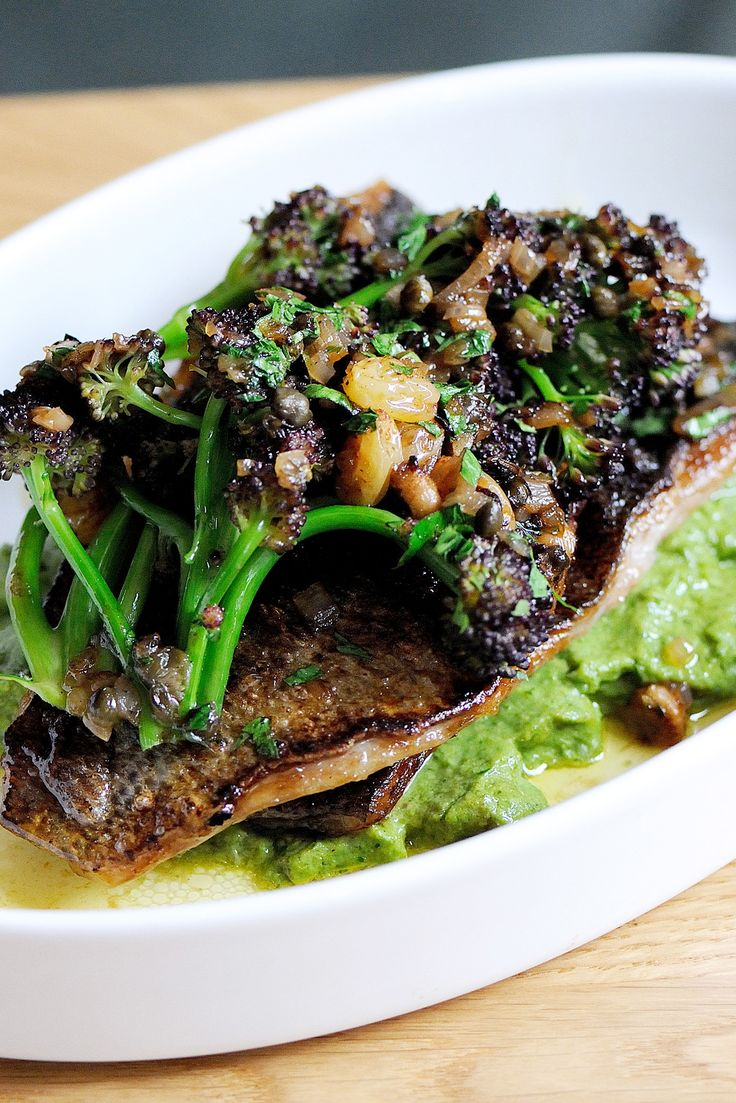 A sumptuous brown shrimp sauce and an earthy broccoli purée flatter the pan-fried fillets of fish in Tom Aikens' innovative dish. This black bream recipe takes just over an hour to cook so it's a good recipe for dinner with friends.
