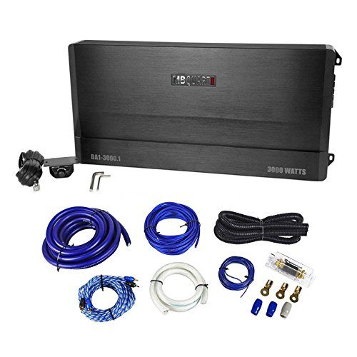 Package MB Quart DA130001 3000 Watt RMS Mono Class D Car Audio Amplifier With Bass Remote  Rockville RWK01 0 Gauge Complete Car Amplifier Installation Kit with RCA Cables ** Learn more by visiting the image link.