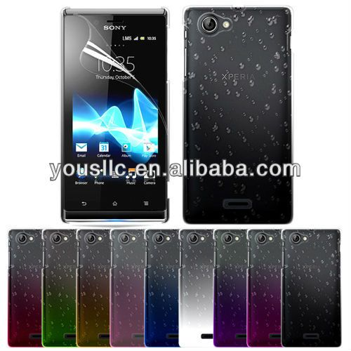 PC raindrop hard case cover for Sony ST26i Xperia J  1 Made of PC  2 Low MOQFast delivery   3 Paypal as payment term