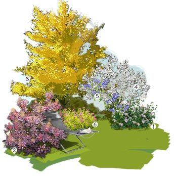 Projet am nagement jardin feuillages lumineux jardin for Jardin floral design