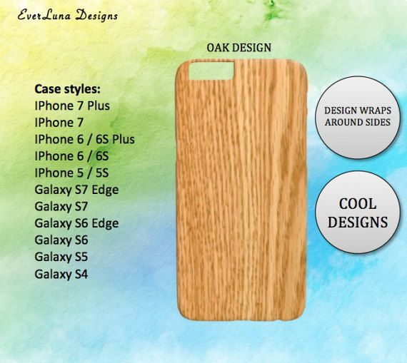 Wood phone case iphone 7 6 and 5 Samsung S7 S6 S5 by EverLunaStore