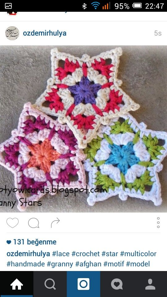 16 best Crochet Stars And Snowflakes images on Pinterest   Crochet ...