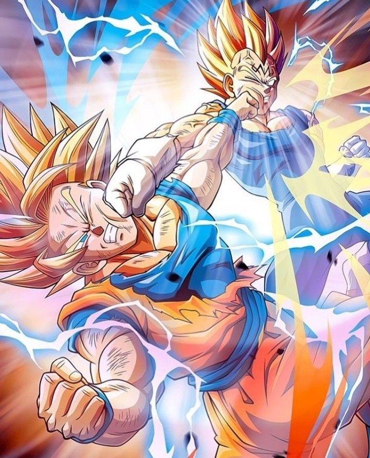 Goku Vs Vegeta Anime Dragon Ball Super Dragon Ball Super Manga Dragon Ball Artwork