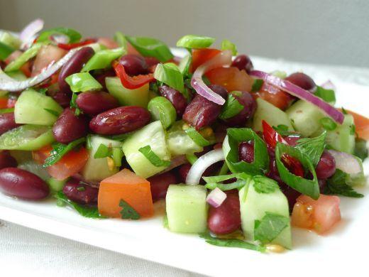 Salade met kidneybonen, glutenvrij