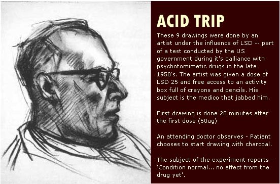 The effect of an acid trip on an artist's drawings