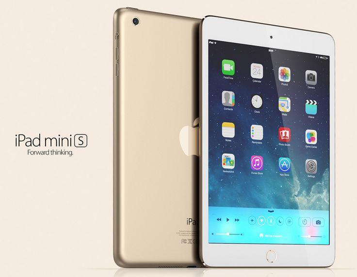 iPad Mini 2 in versiune aurie sau albastra arata grozav, sunt prezentate intr-un nou concept