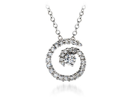 17 best hearts on fire diamond pendants images on pinterest mystical prong set pendant this pendant showcases a radiant diamond spiral embraces a glistening hearts on aloadofball Image collections
