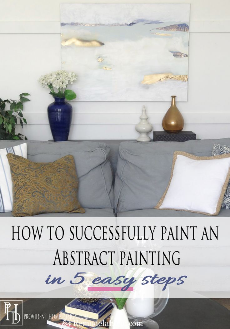 How to Paint an Abstract Painting in 5 Easy Steps -- Using tissue paper, spray paint and wall paint!