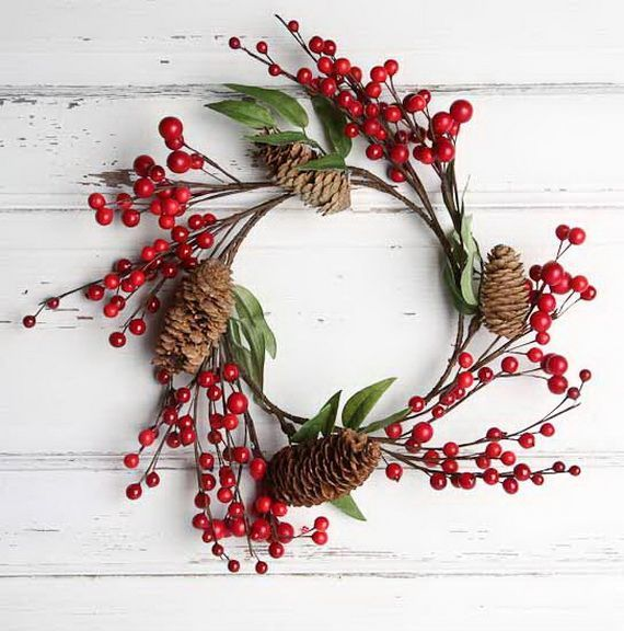 80 best outdoor christmas decor images on pinterest for Artificial cranberries for decoration