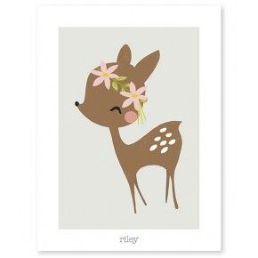 Lilipinso poster vintage deer 30 x 40 cm