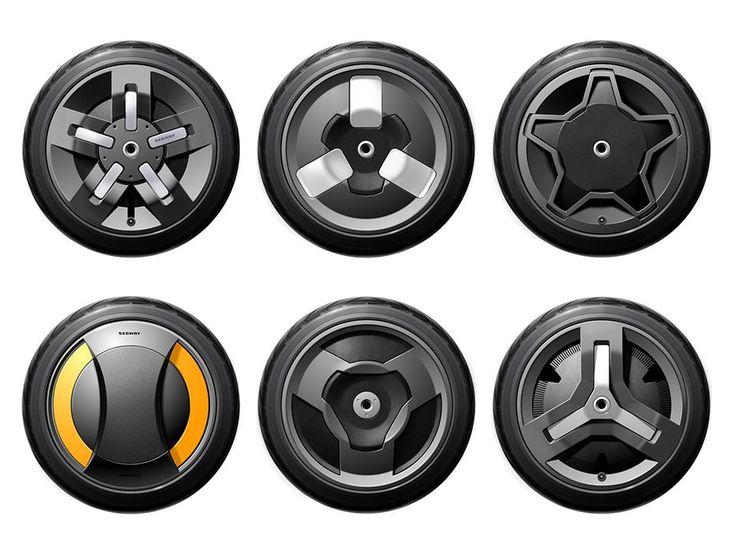 Sketches we like / Digital Sketch / Illustratuion / 2D / Illustrator / Design range / at Segway Wheel Concept Sketches