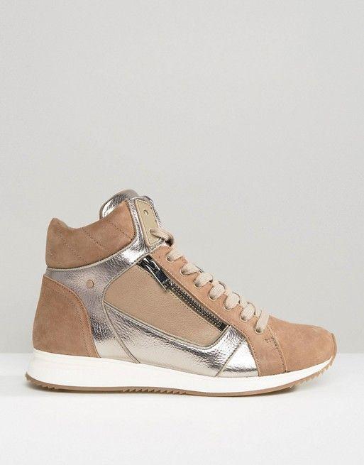 ALDO | Высокие кроссовки с отделкой металлик ALDO