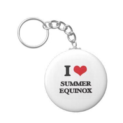 I love Summer Equinox Keychain - autumn gifts templates diy customize
