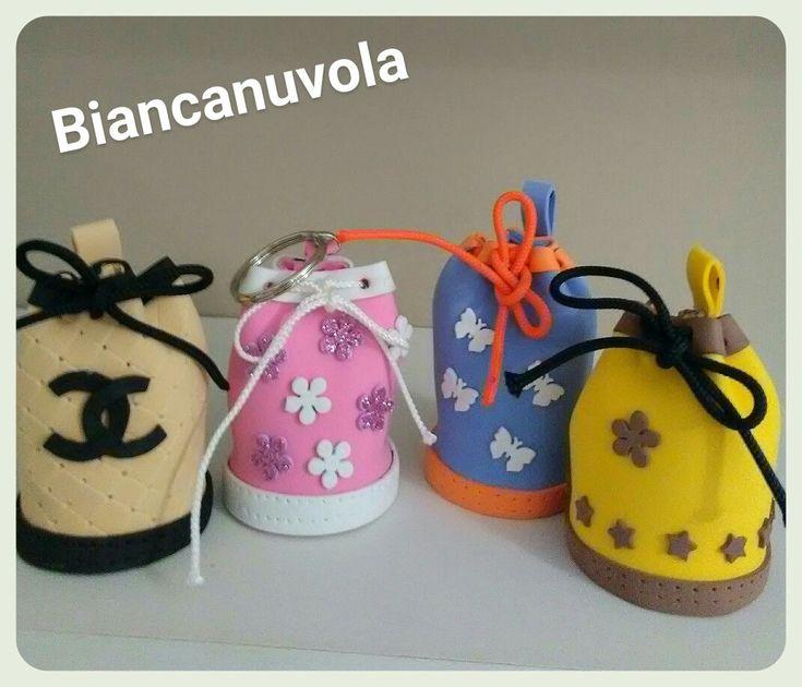 Mini bag in gomma crepla Biancanuvola creazioni handmade