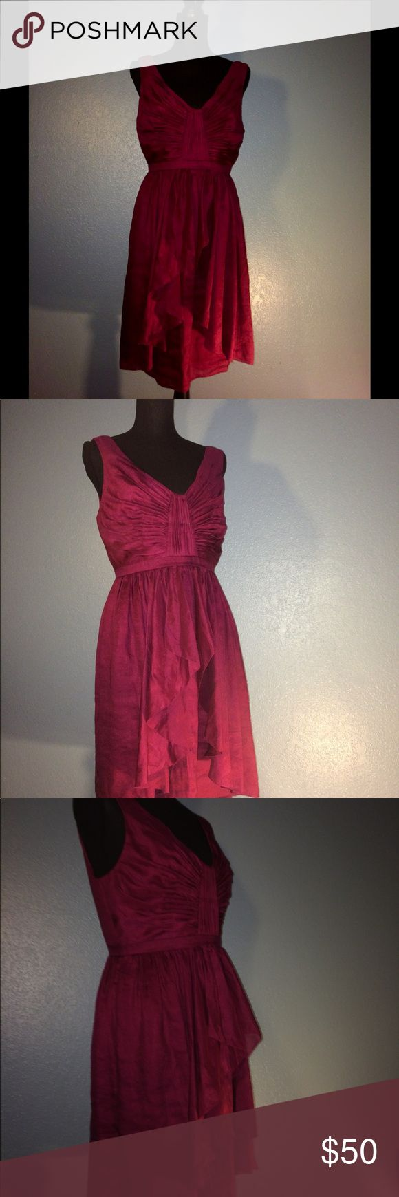 Fuchsia Dress by Quillaree Anthropologie Beautiful. Silk and Linen. Perfect Condition. Anthropologie Dresses