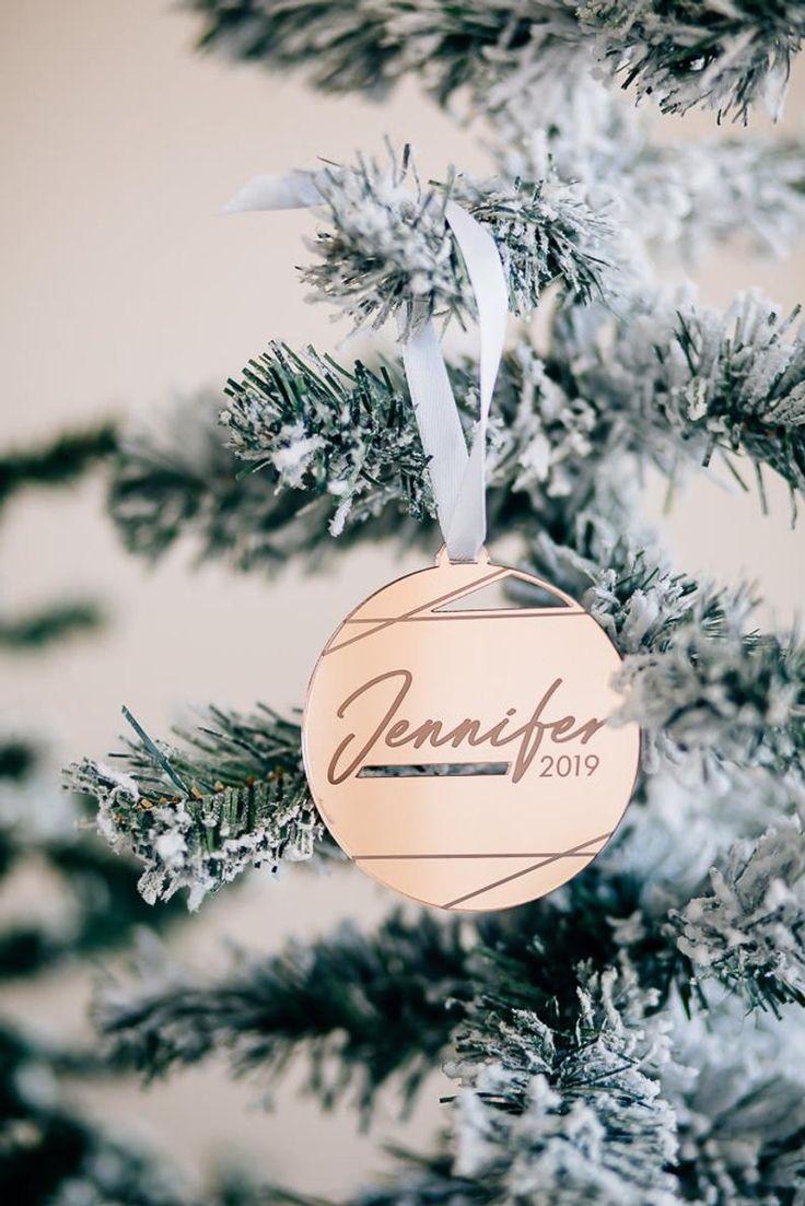 Malibu Round Personalized Christmas Ornament Laser