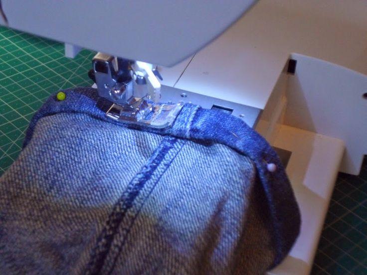 Truco para evitar abultamientos al hacer el dobladillo de los pantalones vaqueros - yo elijo Coser