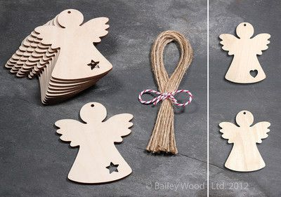 wooden angels / ebay UK/ Dovecote woodcraft