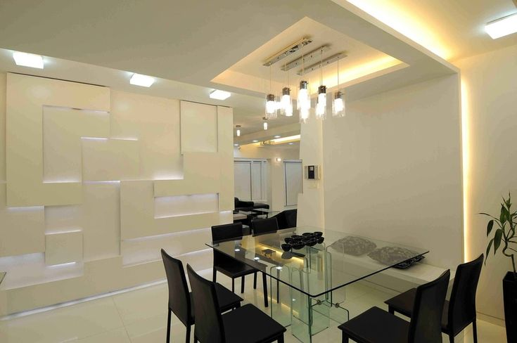Squared dining table design by sonali shah architect in mumbai maharashtra india dining Kitchen design mumbai pictures