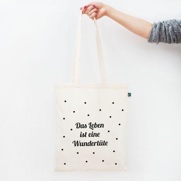 Jutebeutel - Jutebeutel / Das Leben ist eine Wundertüte - ein Designerstück von Eulenschnitt bei DaWanda
