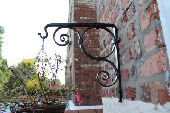 Hanging Basket Bracket handmade ironwork by by TomFellBlacksmith