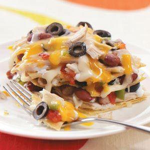 Crockpot Mexican Tortilla Lasagna: Tortillas Chicken, Tortillas Lasagna, Chicken Tortillas, Mexicans Lasagna, Corn Tortillas Recipes, Food, Green Peppers, Chicken Breast, Chicken Lasagna Recipes