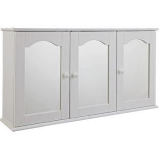 3 door mirrored bathroom cabinet white buy traditional 3 door bathroom cabinet white at argos 24756
