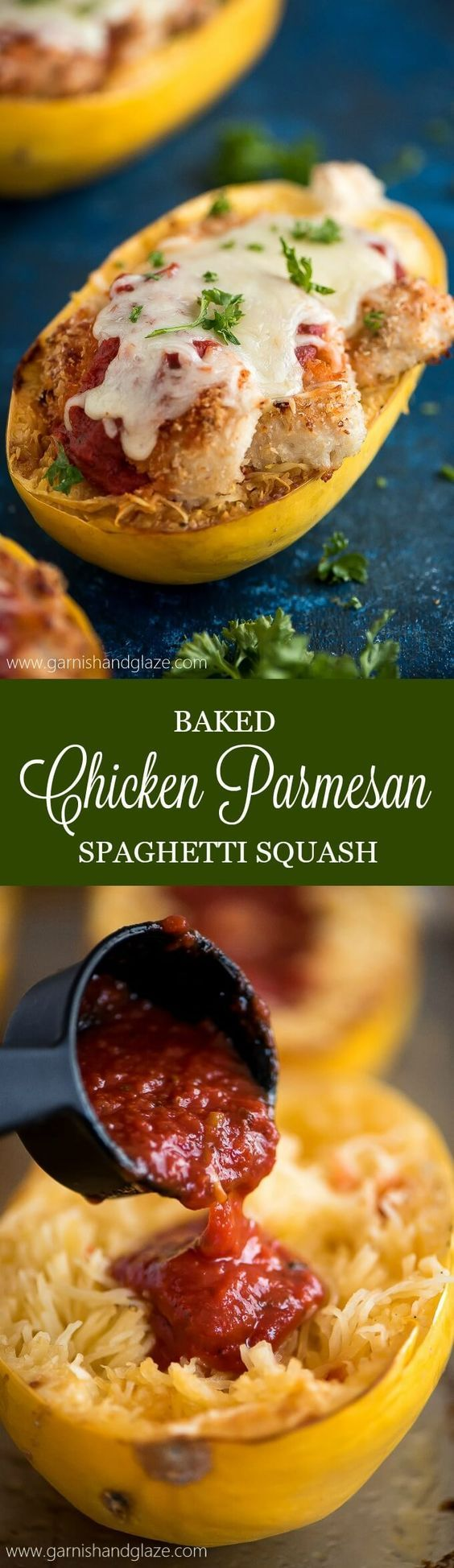 Make a smart swap and cook up some Baked Chicken Parmesan Spaghetti Squash for a healthier dinner with the same great taste and crispy texture. Repin for a chance to see a similar meal in your freezer aisle @smartmade0201 @AOL_Lifestyle #ad #SmartMade #InspiredByYou