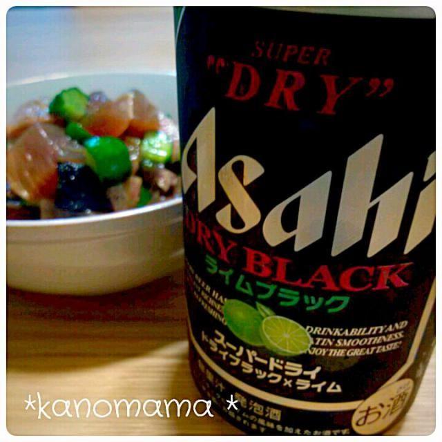 黒ビールにライム、まんまの味(笑)   アテは、  かつおたたき♪めちゃうま~♪ レシピ本のみて~♪ - 63件のもぐもぐ - かつおたたきときゅうりのにんにく醤油和え♪ by kanomama