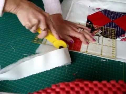 Patchwork Krabbeldecke Quilt selber nähen. Teil 6/6. Saum nähen; säumen. - YouTube