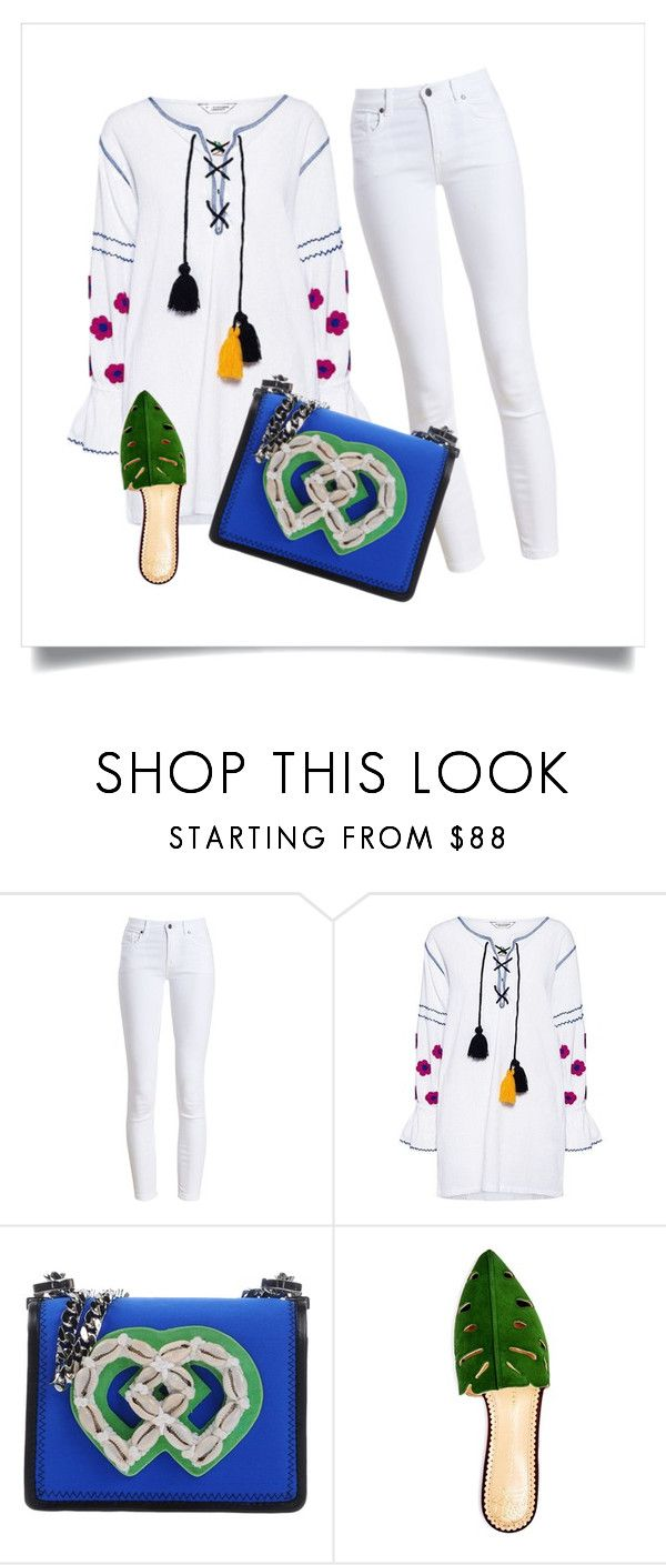 Summer time by janka-dzurillova on Polyvore featuring Sensi Studio, Barbour, Charlotte Olympia and Dsquared2
