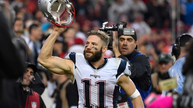 Julian Edelman on cusp of passing Wes Welker's Patriots playoff record