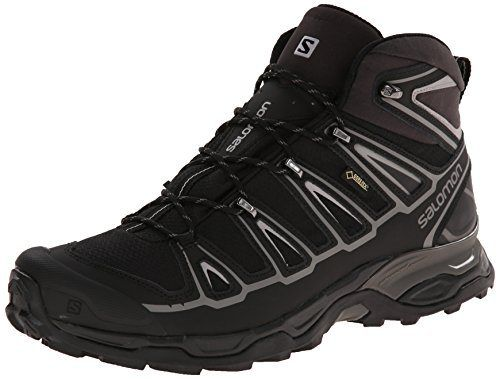 Salomon Men's X Ultra Mid 2 GTX Multifunctional Hiking Boot, Black/Black/Aluminum, 11 M US - http://authenticboots.com/salomon-mens-x-ultra-mid-2-gtx-multifunctional-hiking-boot-blackblackaluminum-11-m-us/