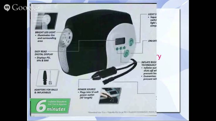 Slime 40022 12-Volt Digital Tire Inflator Review- watch our live Hangout!