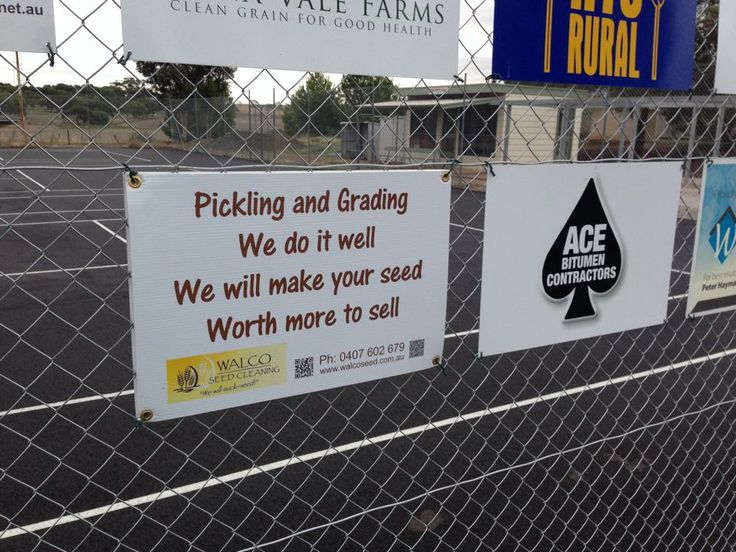 Proud to be supporting local sporting clubs. Tarlee Tennis Club has new court surface to play on.  #seedcleaning