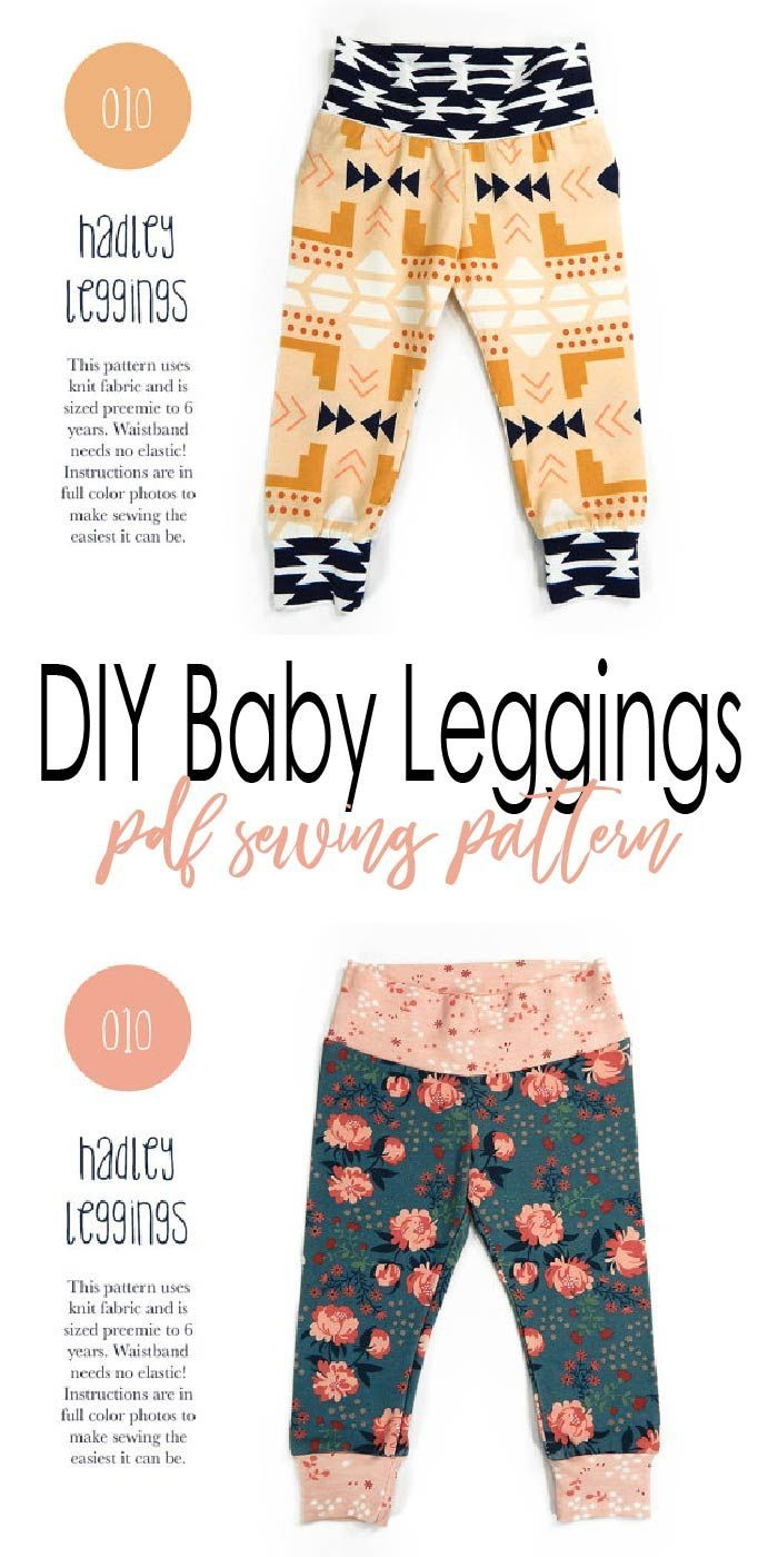 Easy to follow baby leggings PDF sewing pattern #DIY | Baby clothes ...