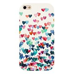 fargerik hjerte mønster tilbake tilfelle for iPhone 4 / 4S