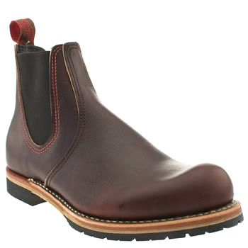 Mens Dark Brown Red Wing Chelsea Boots | schuh