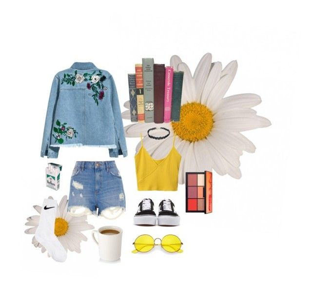 """""""Set #34"""" by jeongmina on Polyvore featuring Ray-Ban, River Island, H&M, NARS Cosmetics, NIKE and Vans"""